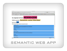 Semantic Web Application using Twitter